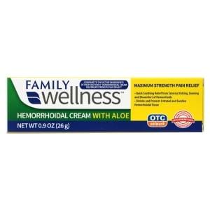 Family Wellness Maximum-Strength Hemorrhoidal Cream with Aloe, 0.9 oz. |  Family Dollar