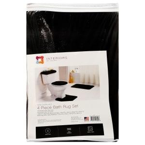 Interiors By Design Black Bath Rug Sets 4 Pc Family Dollar
