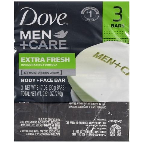 Dove Men Care Body Face Bar Soap 3 Ct Family Dollar