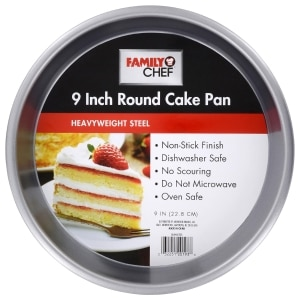 Family Chef Round Cake Pans 9 In