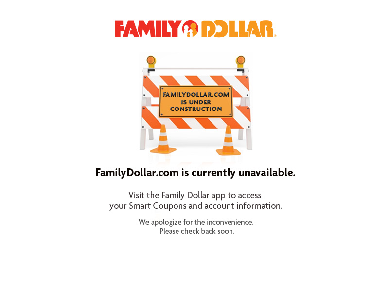 Introducing the Family Dollar App.
